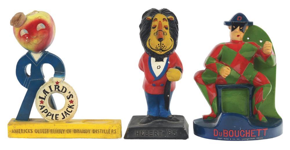 Lot 2690: Lot of 3: Advertising Figures - Laird's, Du Bouchett, Hubert.