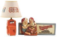 Lot 2693: Lot of 2: Advertising Figures - Usinger's, Lamp.