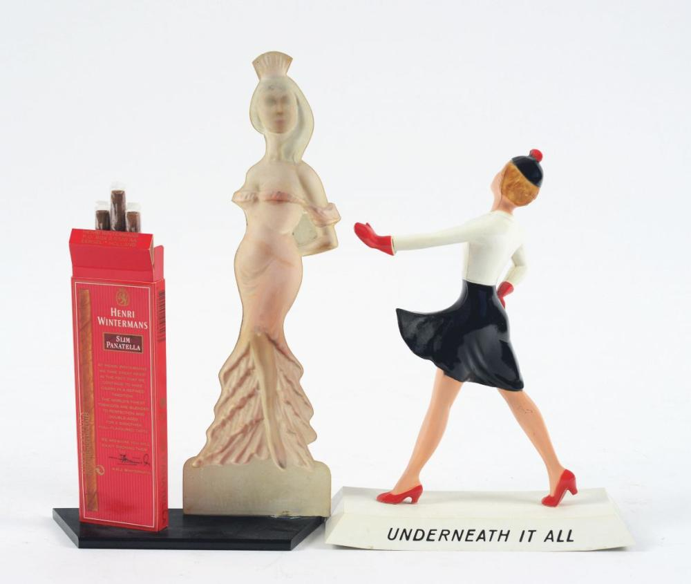 Lot 2699: Lot of 2: Advertising Figures - Hollywood, Slim Panatella.