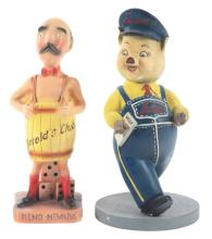 Lot 2703: Lot of 2: Advertising Figures - Harold's Club, Jordan's.