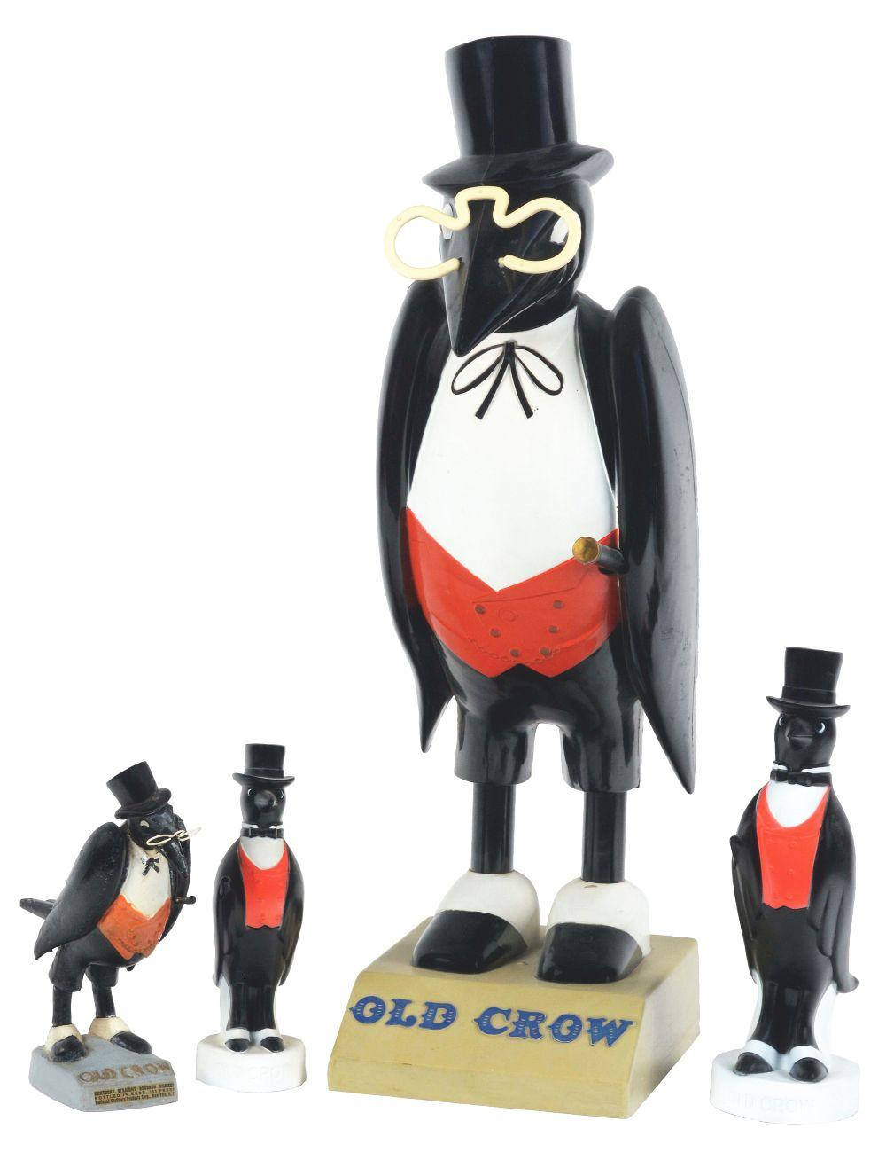 Lot 2707: Lot of 4: Old Crow Advertising Figures.