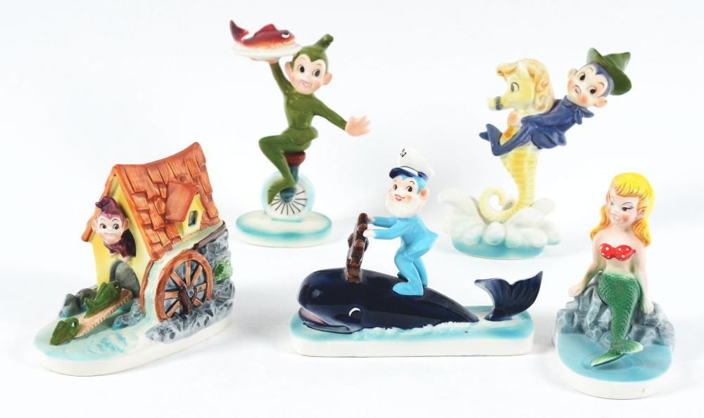 Lot 2708: Lot of 5: Fairlyland Advertising Figures.