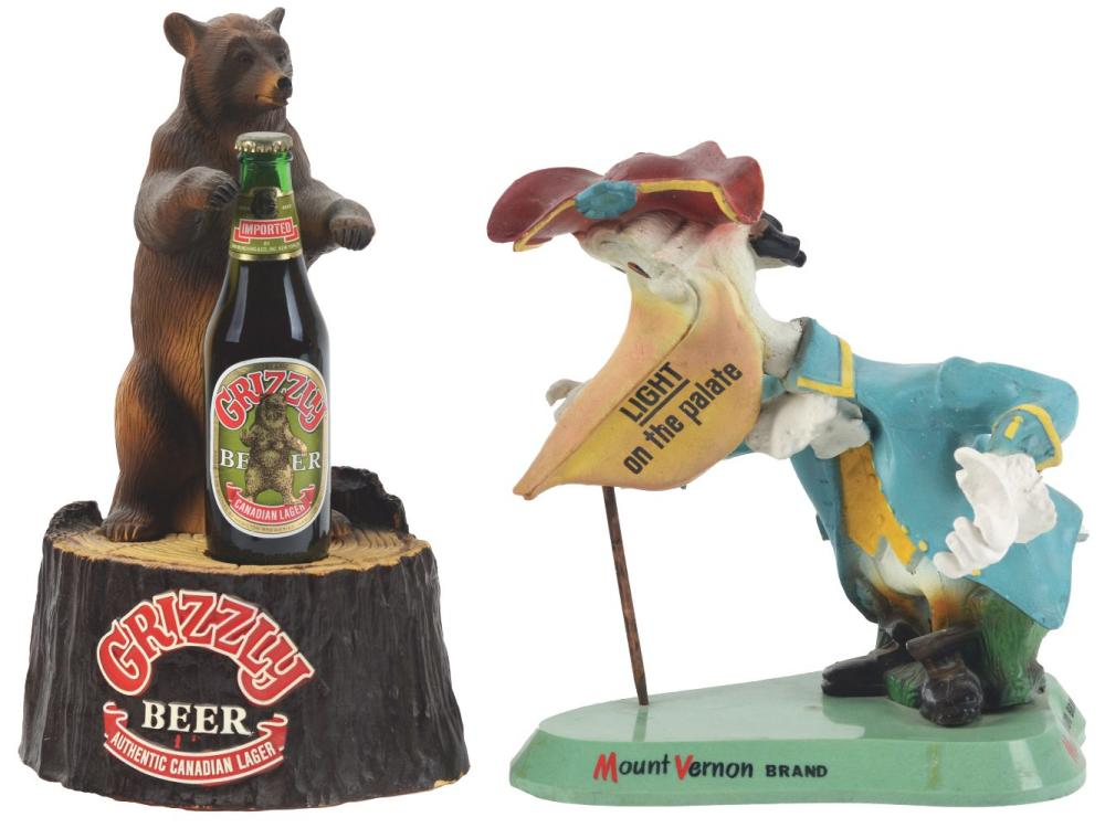 Lot 2710: Lot of 2: Advertising Figures - Mount Vernon, Grizzly.