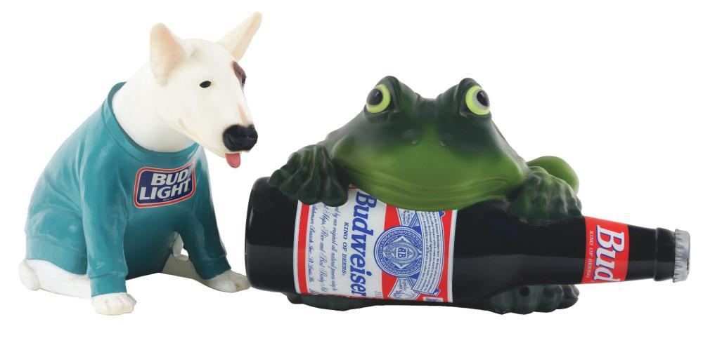 Lot 2713: Lot of 2: Advertising Figures - Budweiser, Bud Light.