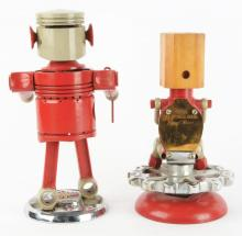 Lot 2716: Lot of 2: Red Tractor Part Figures.