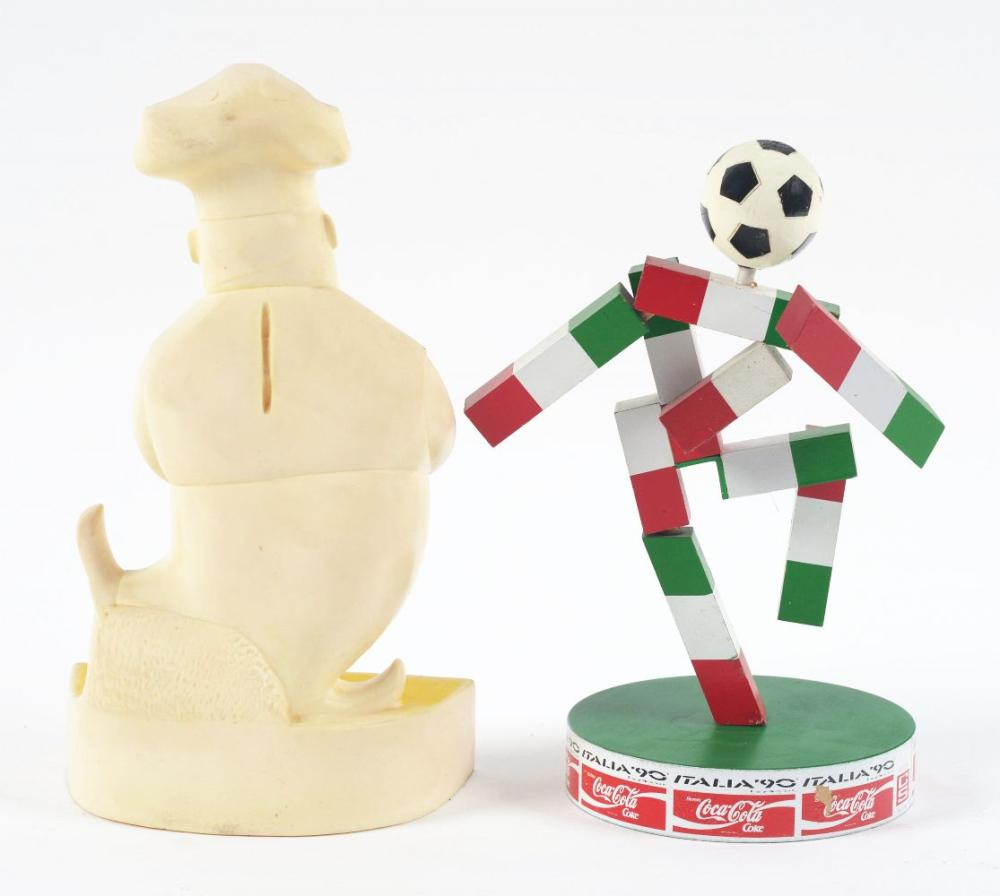 Lot 2723: Lot of 2: Advertising Figures - Shakey's, World Cup.