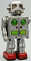 Painted Tin Battery-Operated Attacking Martian.