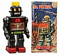 Tin Litho Battery-Operated Mr. Patrol Robot.