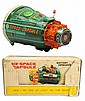 Tin Litho Battery-Operated New Space Capsule.