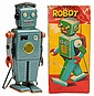 Tin Litho & Painted Wind-Up Mechanical Robot.