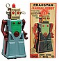 Painted Tin Battery-Operated Radical Robot.