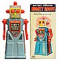 Tin Litho & Painted Battery-Operated Mighty Robot