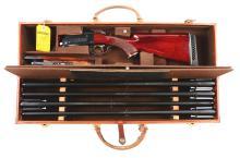 (M) Cased Krieghoff Model 32 Four Barrel Set Over and Under Boxlock Shotgun.