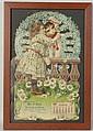 1908 Buffalo, NY Embossed & Die-Cut Calendar.