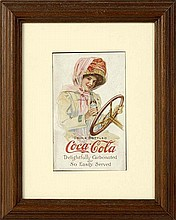 1911 Coca-Cola Motor Girl Postcard.
