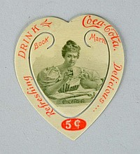 1900 Coca-Cola Celluloid Bookmark.