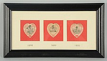 3-Framed Coca-Cola Celluloid Bookmarks.