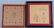 Lot of 2: C.1912 Coca-Cola Rice Paper Napkins.