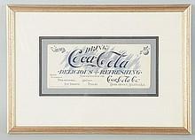 C.1904 Coca-Cola Ink Blotter.
