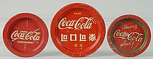 Lot of 3: Assorted Coca-Cola Coasters.