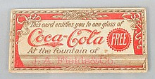 1901 Coca-Cola Free Drink Coupon.