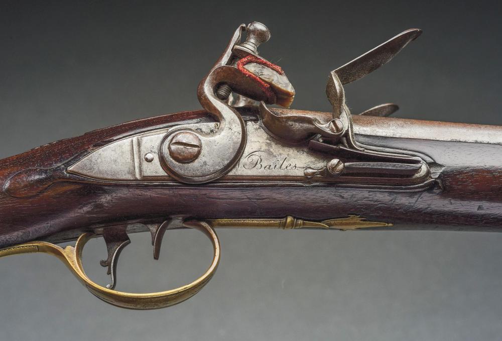 A) Mid-18th Century English Side-by-Side Flintlock Fowler b