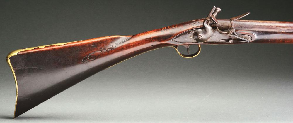 A) Early Flintlock Fowler Attributed to Peter Neihart