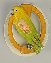 Cast Iron Parrot in Ring Doorknocker.