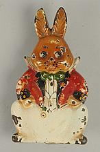 Cast Iron Grandpa Rabbit Doorknocker.