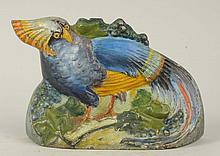 Cast Iron Cockatiel or Bird of Paradise Doorstop.