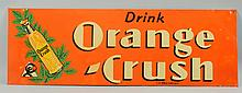 1937 Orange Crush Embossed Tin Sign.