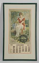 1923 Orange Crush Calendar.