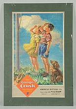 1940s Orange Crush Paper Poster/Calendar Top.