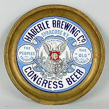 Congress Beer Plate with Graphics.