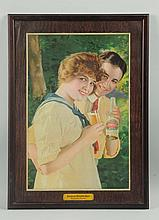 1914 American Beer Framed Tin Sign.