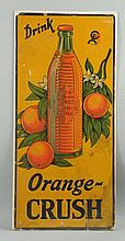 Rare 1920s Orange Crush Cardboard Sign.