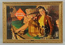 Larger 1940s Orange Crush Cardboard Poster.