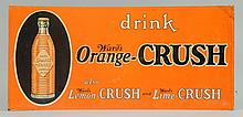 1920s-30s Orange Crush Embossed Tin Sign.