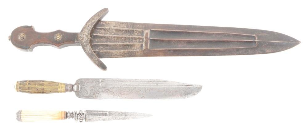 LOT OF 3: THREE EUROPEAN EDGED WEAPONS, VARIOUS DATES.