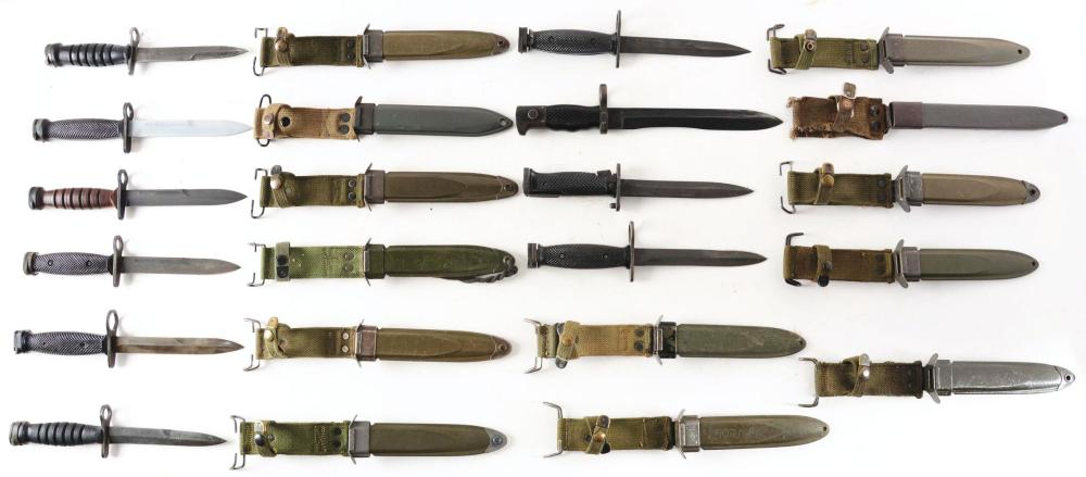 COLLECTION OF 10: ASSORTED US MILITARY AND FOREIGN BAYONETS
