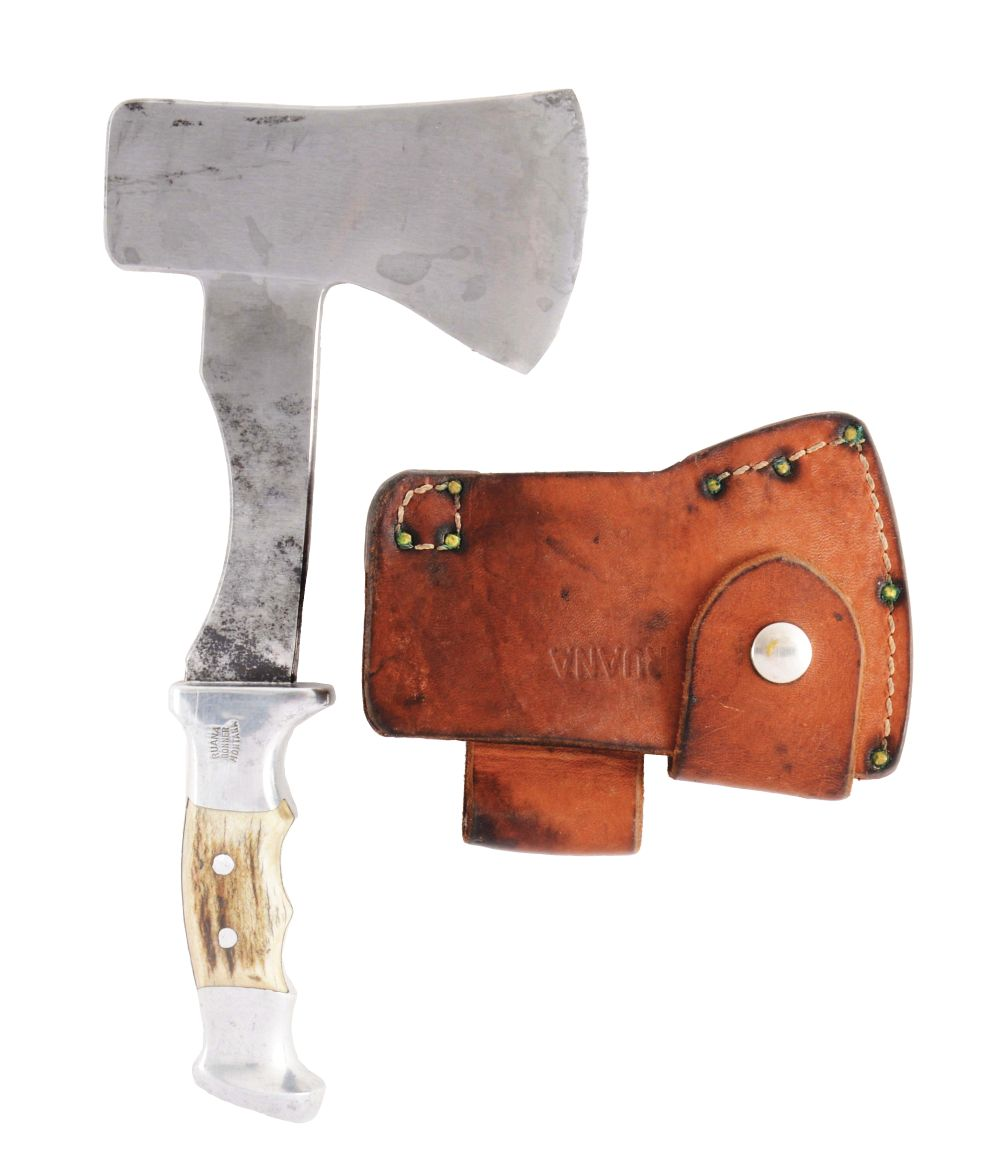 RUANA BELT AXE FROM BONNER MONTANA WITH SHEATH