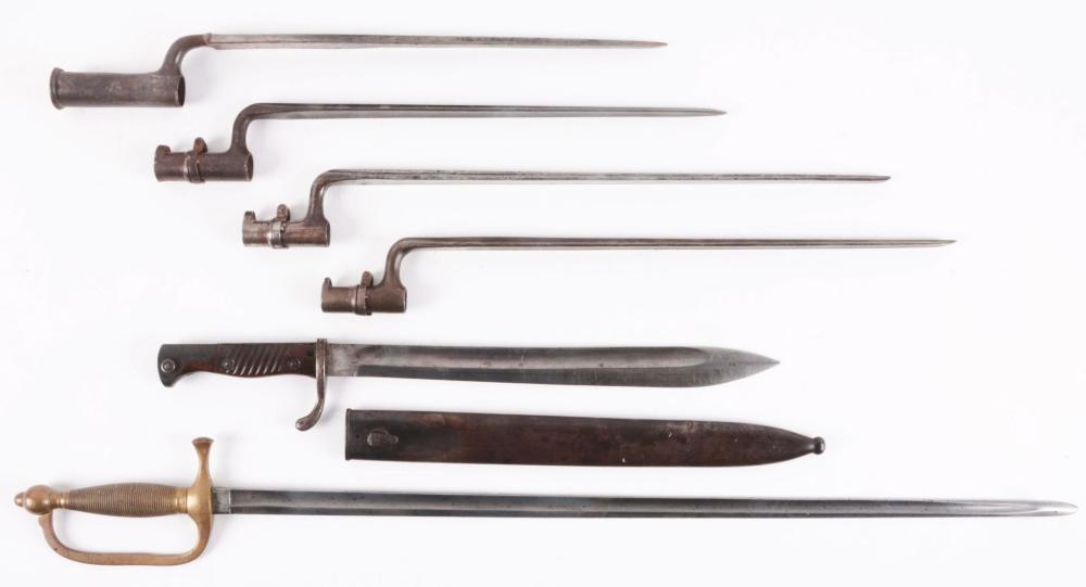 GREAT COLLECTORS LOT OF BAYONETS AND SWORD