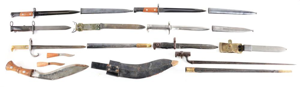LOT OF 8: EIGHT EDGED WEAPONS FROM VARIOUS COUNTRIES.