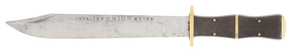 "CHEVELIER ""DEATH TO TRAITORS"" BOWIE KNIFE."
