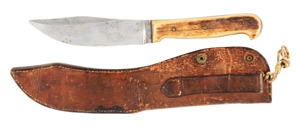 WILL & FINCK CALIFORNIA HUNTING KNIFE.
