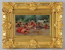 Nicholas Haritonoff Oil on Canvas.