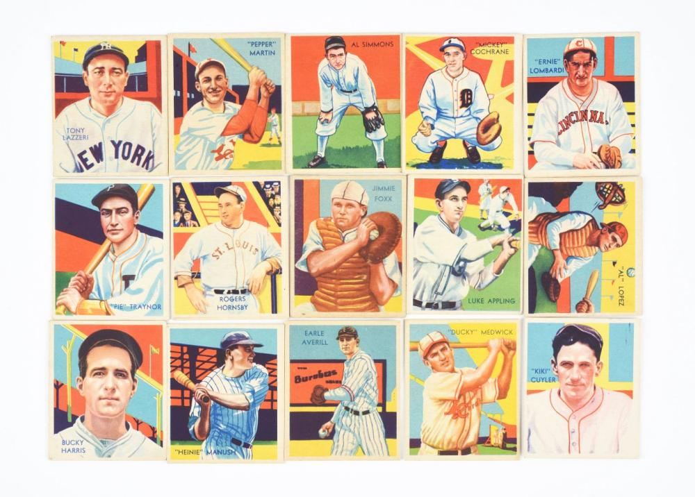 Lot Of 15 1935 Diamond Stars Baseball Cards