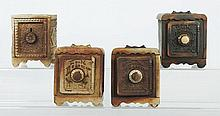 Lot of 4: Cast Iron Safe Banks.