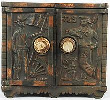 Cast Iron Army/Navy Safe Bank.