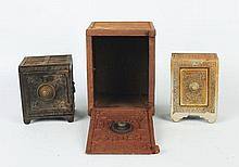 Lot of 3: Cast Iron Safe Still Banks.